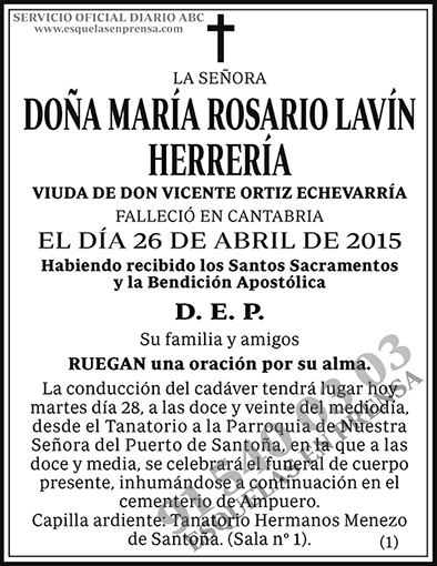 María Rosario Lavín Herrería